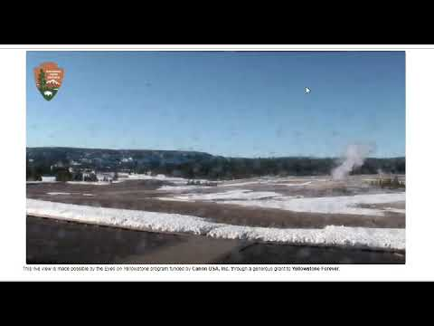 Yellowstone Old Faithful Geyser Eruptions!  Live Webcam Images!
