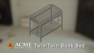acme furniture twin twin bunk bed assembly