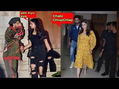 Ranbir Kapoor IGNORES Ex Deepika Padukone in front of Ranveer Singh & Alia Bhatt Gully Boy Screening