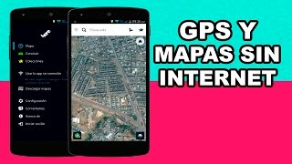 GPS con mapas y seguimiento por voz sin conexión a internet para Android