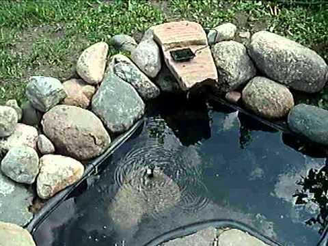 Solar Powered Panel Water Pump Pond Fountain Pool   Black
