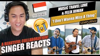 Download Mp3 Felix Irwan Sings I Don t Want To Miss A Thing with Music Travel Love SINGER REACTION
