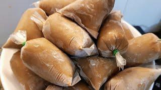 KEM CÀ PHÊ SỮA /Cách làm kem cà phê sữa túi dẻo mịn đậm đà thơm ngon/Linh Vương Food