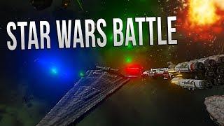 REBEL FLEET ASSAULT! - EPIC STAR WARS BATTLE - Space Engineers (Failed Battle)