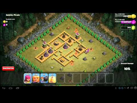 Clash of Clans Goblin Picnic 3 Star Campaign Guide - TH6
