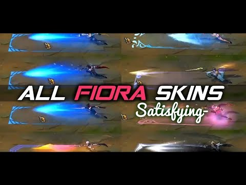 ALL FIORA SKINS •Satisfying• [SKINS PREVIEW] | Skin Comparison 2020