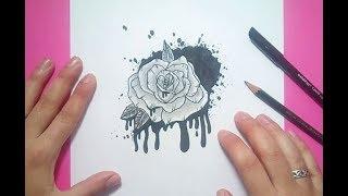 Como dibujar una rosa paso a paso 15 | How to draw a rose 15