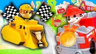 Мультики про машинки Вспыш и Щенячий Патруль - Гонщики! Видео про игрушки для мальчиков 2020