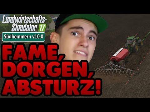 LS17 Südhemmern v10.0 #42 -Fame, Dorgen, Absturz - Landwirtschaft Simulator 17 Let's Play