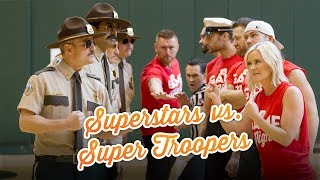 WWE Superstars vs. Super Troopers in dodgeball: WWE Game Night