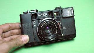 コニカ C35AF(ジャスピンコニカ)の使い方 KONICA C35AF How to use 1970s world's first AF camera