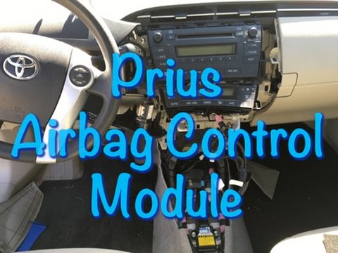 How To 2010 Toyota Prius Airbag Control Module Removal Srs