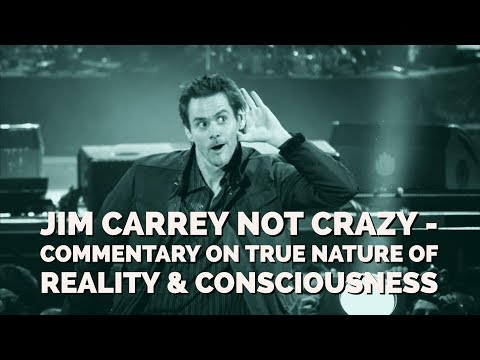 Jim Carrey is Not Crazy - Commentary on the True Nature of Reality & Consciousness