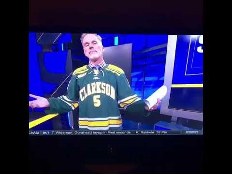 John Buccigross - Clarkson jersey