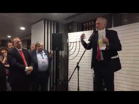 Jeremy Corbyn addresses Jewish Labour Movement Chanukah Party