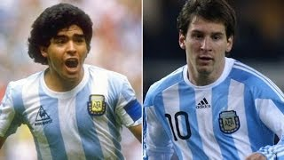 Lionel Messi vs Diego Maradona ● Similar Goals Compilation ● thumbnail