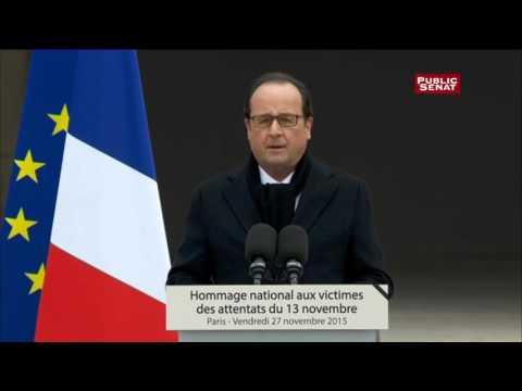 Discours de François Hollande lors de l'hommage national aux victimes des attentats du 13 novembre