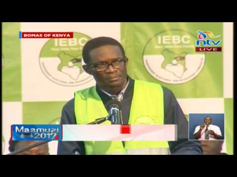 IEBC CEO Ezra Chiloba breaking down result transmission process