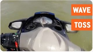 Jet Skier Hit By Huge Wave | Rough Waters