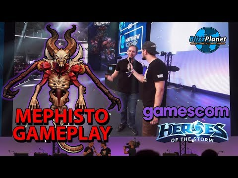 Blizzard GamesCom 2018 Heroes Of The Storm Mephisto Gameplay