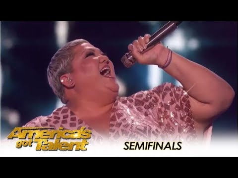 Christina Wells: Fights For a Spot In The Finals With Aretha Franklin | America's Got Talent 2018