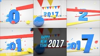 New Year 2017 Greeting - Footage FREE