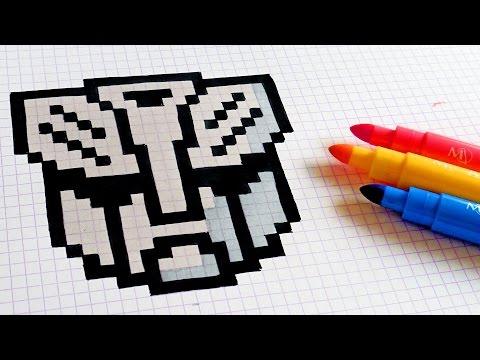 Handmade Pixel Art - How To Draw Transformers Logo #pixelart
