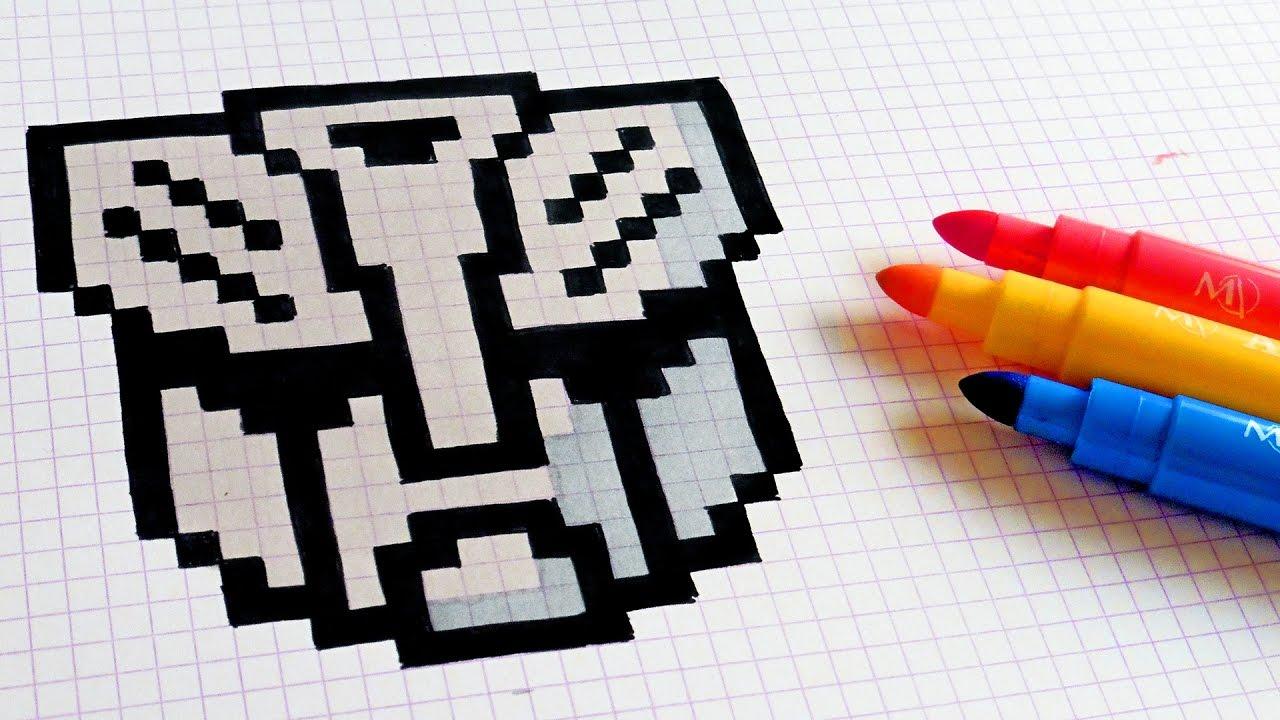 Handmade Pixel Art How To Draw Transformers Logo Pixelart Youtube