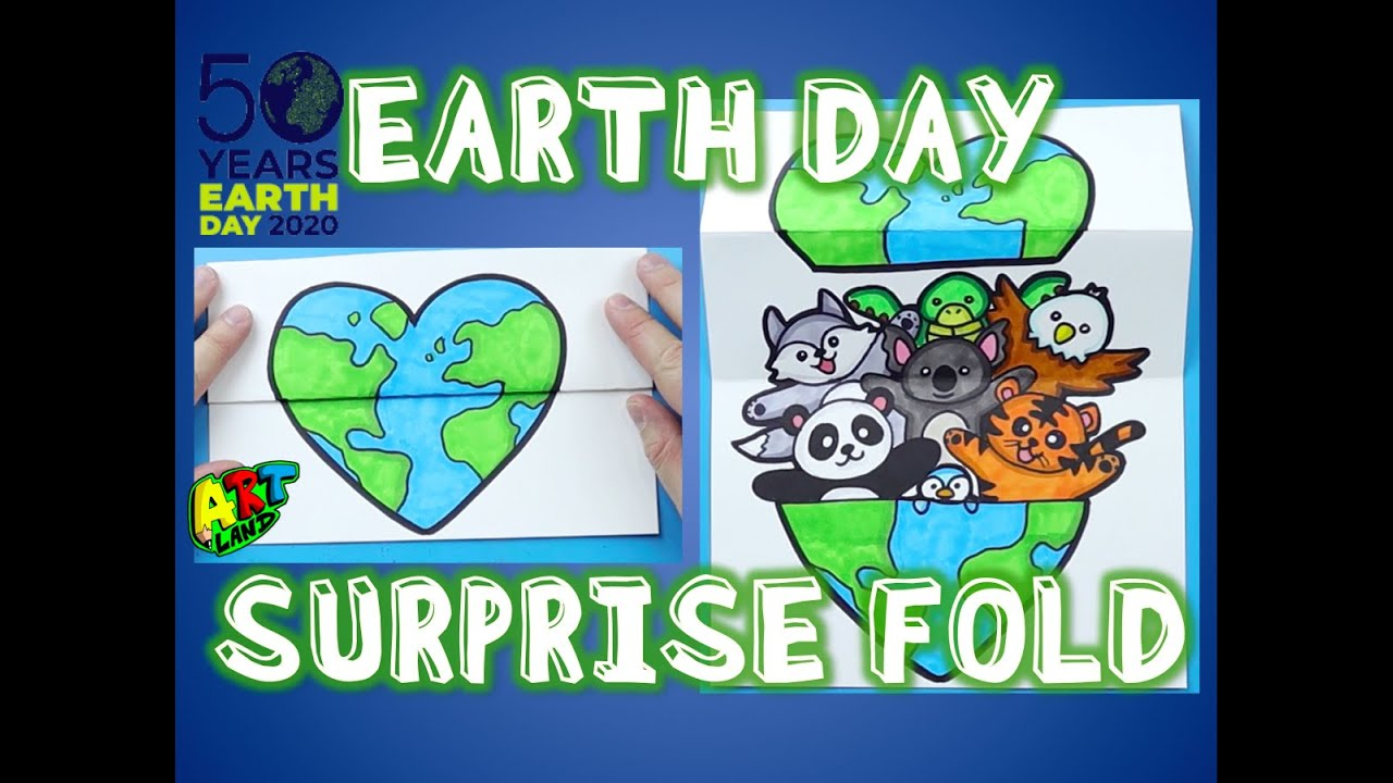 How to Draw an EARTH DAY SURPRISE FOLD - YouTube