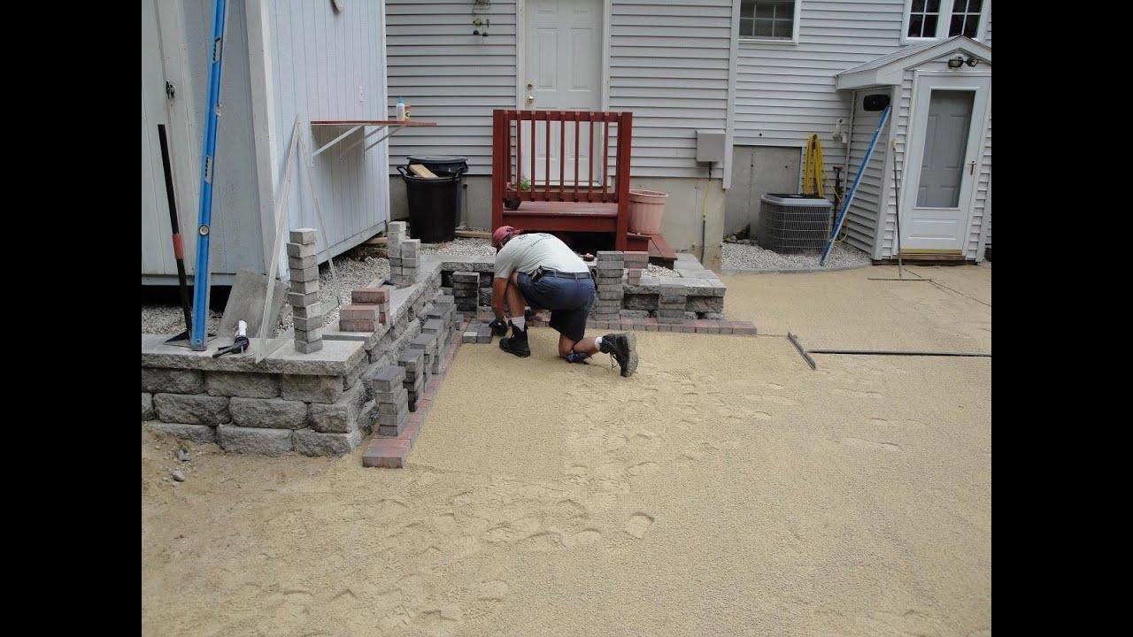 Brick Patio Installation Time Lapse   YouTube