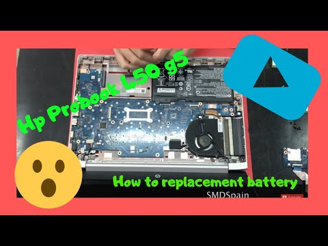 HP Probook 450 G5 How To Replacement Battery Disassembly