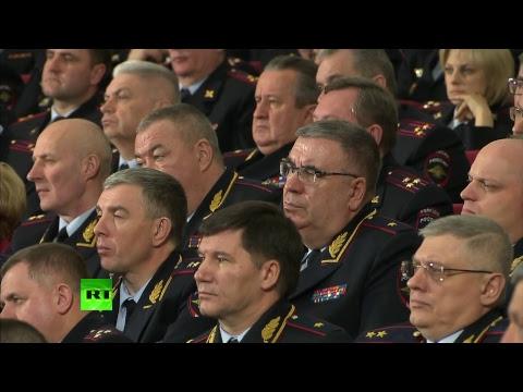 Путин участвует в заседании коллегии МВД России
