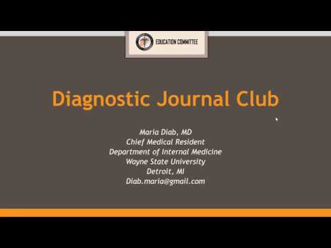 SAMS Online Journal Club | 5th Session: Diagnostic Paper - Maria Diab, MD