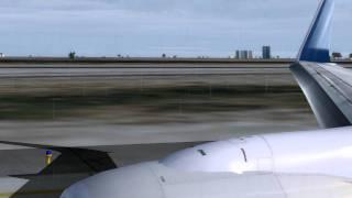 FS2004 - SunExpress 737-800 Take off Antalya [HD]