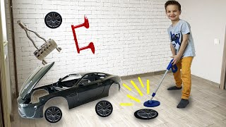 Марк играет в детектива и находит запчасти для новой машинки Jaguar XKR S.