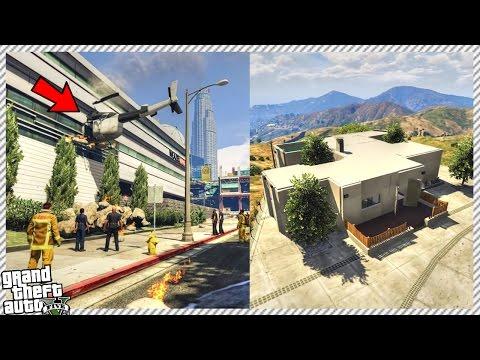 GTA 5 Mods - NEW EXPENSIVE MANSION, PLANE CRASH & HELICOPTER CRASH (GTA 5 GAMEPLAY)