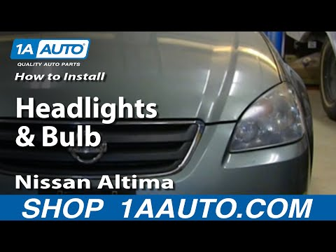How To Install Remove Change Headlights and Bulb 2002-06 Nissan Altima