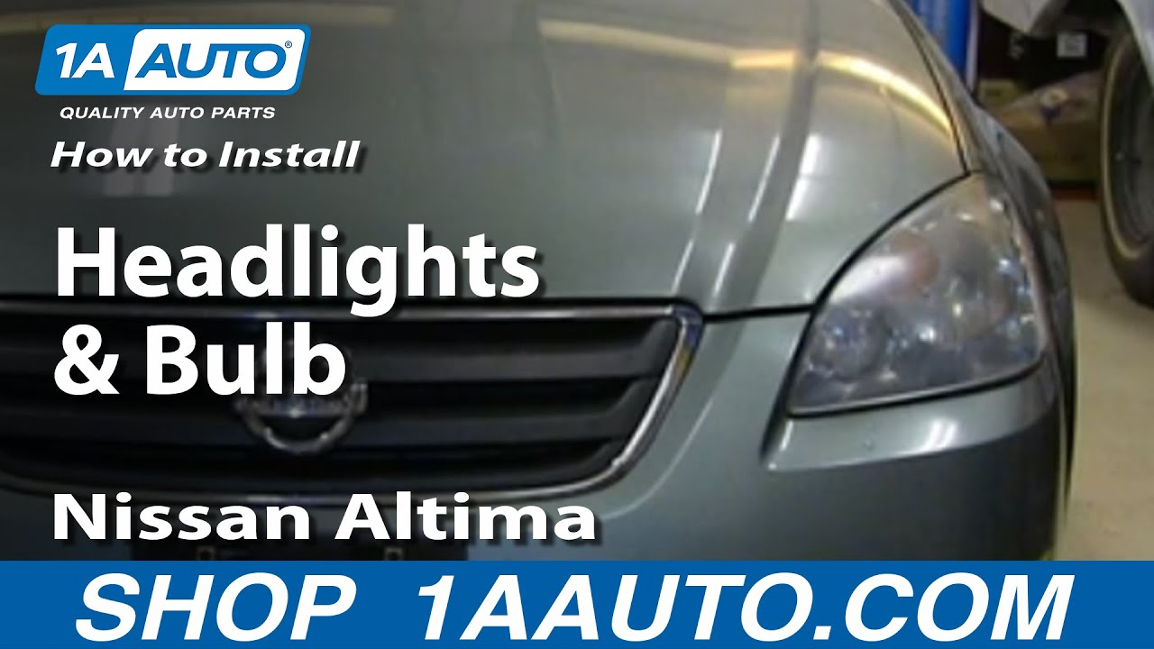 how to install remove change headlights and bulb 2002 06 nissan altima youtube [ 1920 x 1080 Pixel ]
