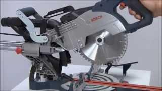 Bosch Sliding Mitre Saw Gcm 8 Sjl In Action