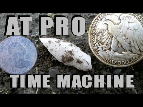 """Garrett AT PRO ..FINDS SILVER COIN 13"""" DOWN"""