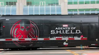 Agents of SHIELD trolley wrap at San Diego Comic-Con 2014