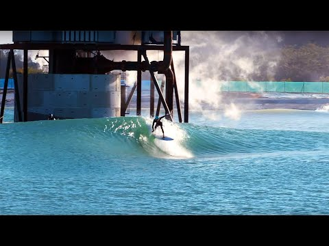 Jay Occhilupo Takes On Surf Lakes' The Island And Occy's Peak Waves