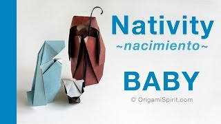 Origami Nativity -child :: Belén-jesús