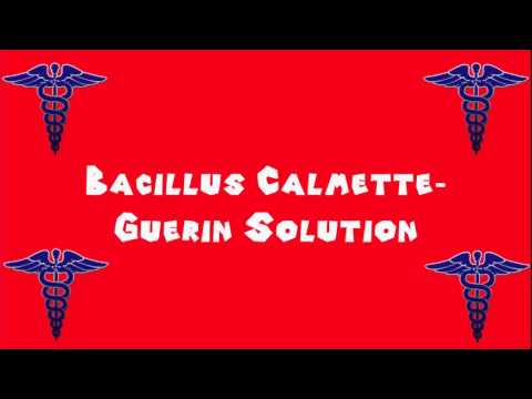 Pronounce Medical Words ― Bacillus Calmette―Guerin Solution