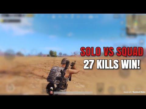 One Man Squad   PUBG Mobile   27 KILLS WIN!