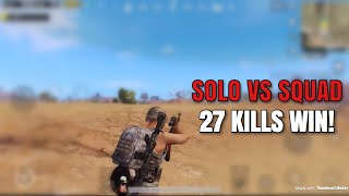 One Man Squad | PUBG Mobile | 27 KILLS WIN!