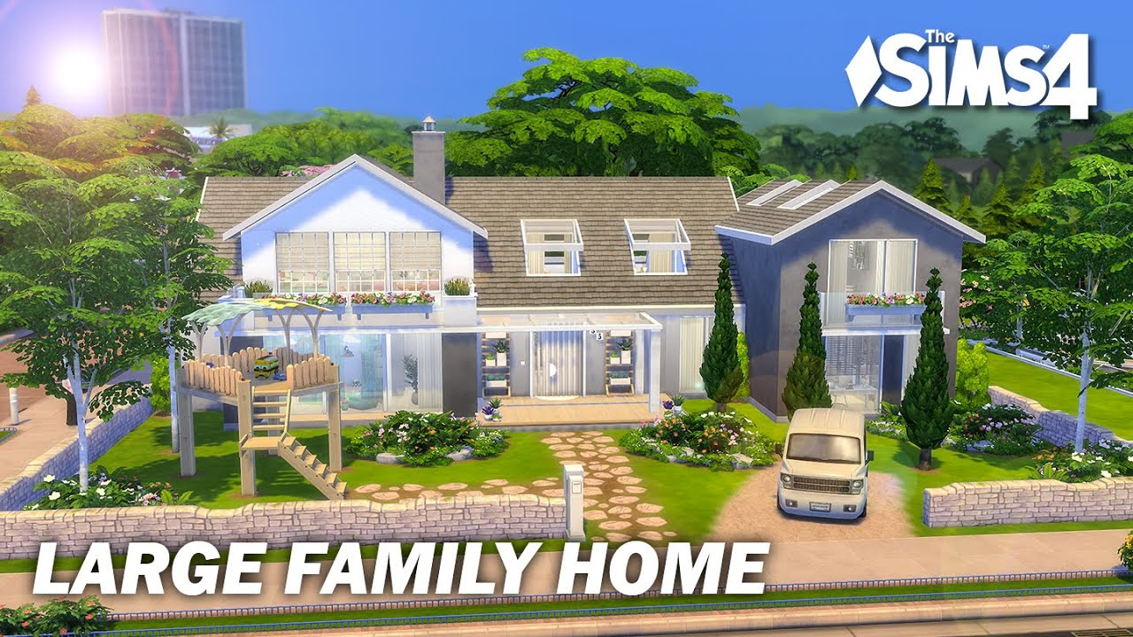 Large Family Home | No CC | Artworks | Stop Motion | Sims 4 Video