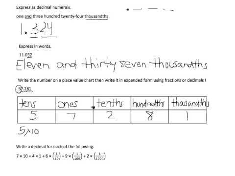 Writing Decimals In Word Form Worksheet & convert between fraction ...