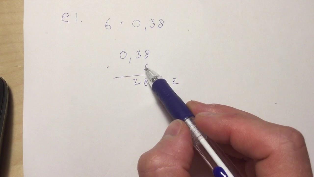 Desimaalilukujen Kertominen