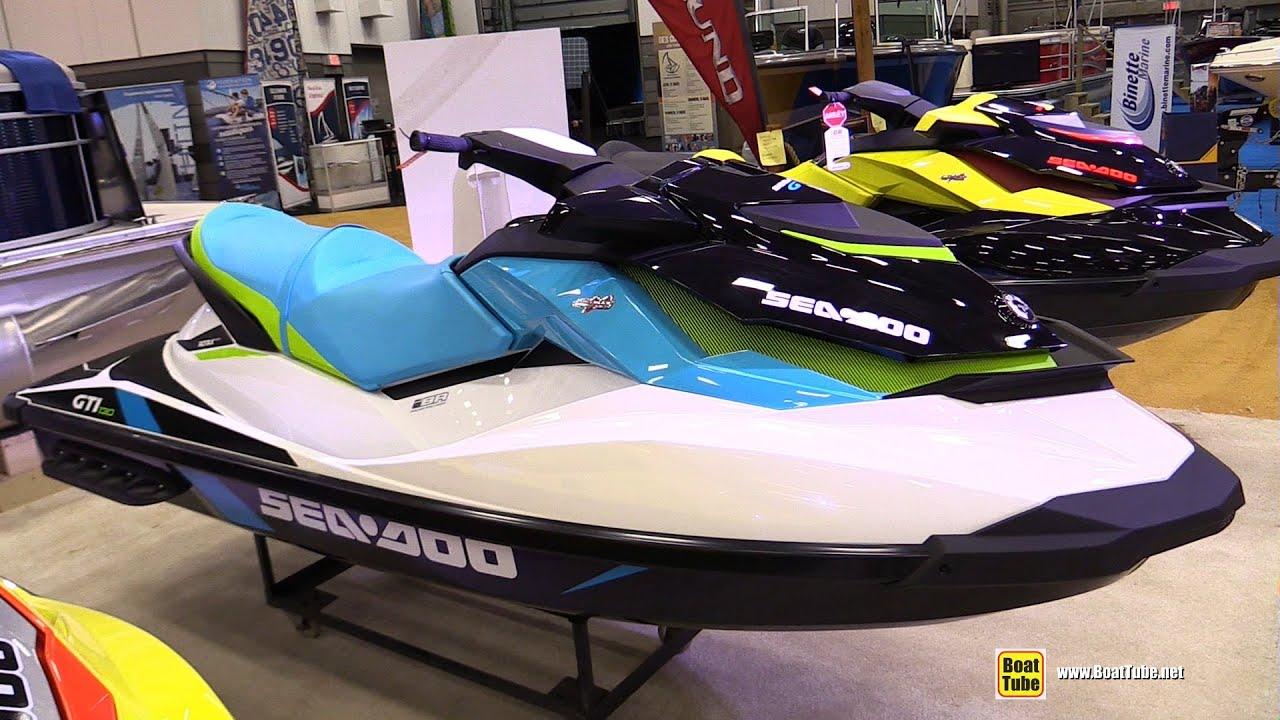 2015 Sea Doo GTI 130 Jet Boat - Walkaround - 2015 Quebec Boat Show ...